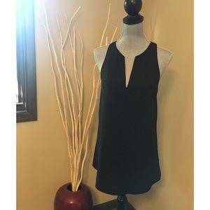 Lulu's XS sleeveless black blouse